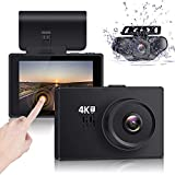 Lifechaser Dual Dash Cam 4K Front and Rear Car Camera 1080P+1080P, 3' OLED Touch Screen WiFi GPS Night Mode 150°, Parking Mode, Time Lapse, WDR, G-Sensor, Loop Recording for Cars, Trucks