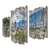 DTGH077 - Perchero de pared (95 x 60 cm, tablero DM)