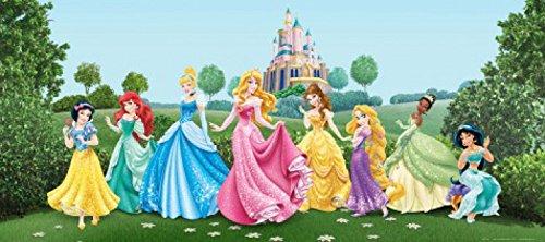 Preisvergleich Produktbild 1art1 Disney Prinzessin - Arielle,  Schneewittchen,  Aschenputtel Und Prinzessinnen,  Feier Im Garten Fototapete Poster-Tapete 202 x 90 cm