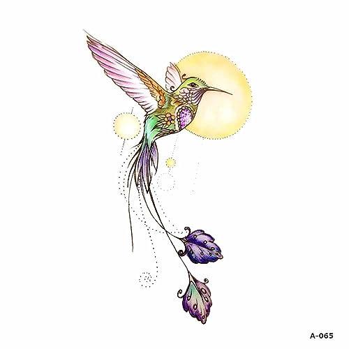 e1b284bbc3ae5 WYUEN 5 Sheets Watercolor Birds Hummingbird Fake Tattoo Waterproof  Temporary Tattoo Sticker for Women Men Body