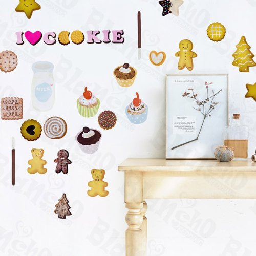 Ginger Cookies – Patchs à grande Stickers muraux Stickers Home Decor