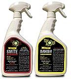 Supreme Growers Smite and Banish 32oz RTU Bundle Spider Mite Killer, Kill Powdery Mildew, All Natural Pesticide, Non-Toxic, Biodegradable, Organic Eco Friendly Pest Control