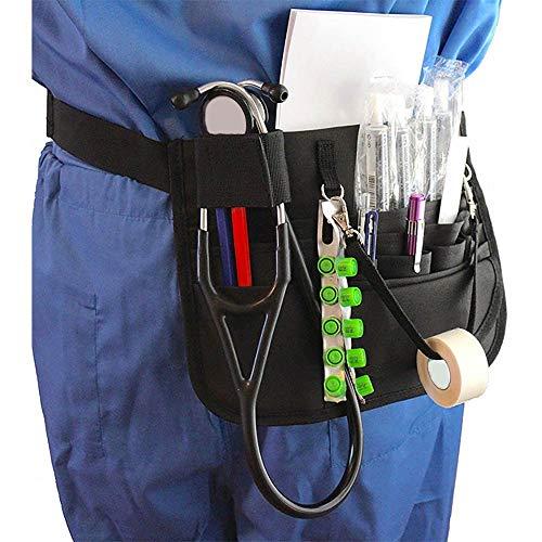 Riñonera para enfermera, Healifty Medical Belt Enfermera Cinturón de enfermería Organizador Riñonera Bolsa Accesorios para enfermeras Cinturón de utilidad Bolsa de herramientas para enfermeras -Negro