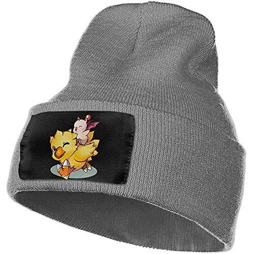 Peeeenny Beeen Final Fantasy Mog und Chocobo warme Wintermütze Strickmütze Totenkopf Mütze Manschette Mütze Wintermützen für Männer & Frauen