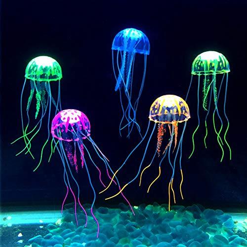 Natuce 6 Pcs Méduse Lumineuse pour Décoration Aquarium