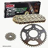 Cadena de Honda XRV 75093–01, cadena RK GB 525xso 124, abierto, Oro, 16/45