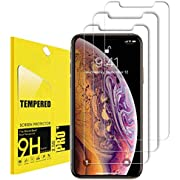 Compatible with iPhone 11 Pro Screen Protector, iPhone X Screen Protector, iPhone Xs Tempered Glass Screen Protector All 5.8 inch New iPhone [3-Pack]
