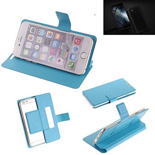 K-S-Trade® Flipcover Für Vernee Apollo X Schutz Hülle Schutzhülle Flip Cover Handy Case Smartphone Handyhülle Blau