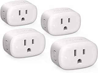 Nooie Smart Plug Wifi Outlet Mini Smart Socket Compatible with Alexa, Google Assistant, No Hub Required. Schedule Timer Function Control Electric Devices(4packs) (PA10-4)