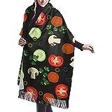 Elaine-Shop Mélange de légumes Salade Tranche Mode féminine Cachemire Châle Wraps Hiver Grande écharpe