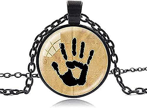 Halskette Vintage Halskette Handgemachter Schmuck Skyrim Dark Brotherhood Mysterious Note in einem Glas Cabochon Dome Anhänger Halskette Männer Frauen Anhänger Halskette Geschenk für Frauen Männer Mäd