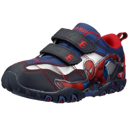 Spiderman Sport Shoe+Velcro SP325676 Baskets pour garçon - Bleu - Bleu Na Si Rb Rb214, 32 EU