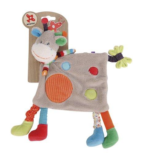 Simba 6305791322 Nicotoy Doudou pour bébé, Girafe avec 4 Pattes