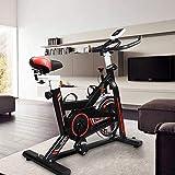 Hooseng Exercise Bike Indoor Cycling Stationary Bikes Cardio Workout Machine Upright Bike Belt