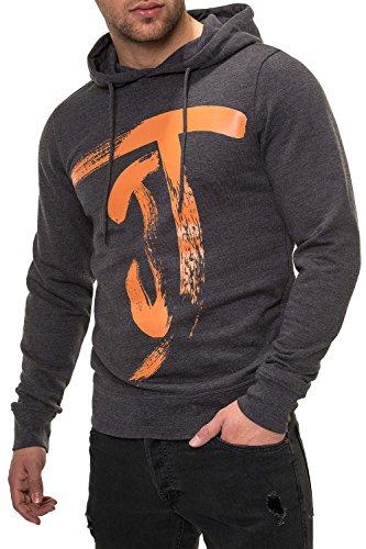JACK & JONES Herren Hoodie Kapuzenpullover Sweatshirt (XXL, Dark Grey Melange)