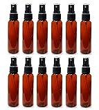 ljdeals 2 oz Amber Plastic Bottles, 12 Pack...
