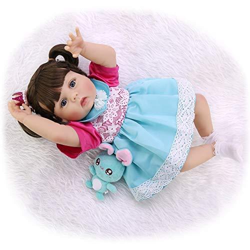 "ASDAD Reborn Baby Toddler Girl Princess Doll 23""57Cm Bebes Reborn Corpo De Silicone Inteiro Realista Toy Dolls Regalo para Niños"