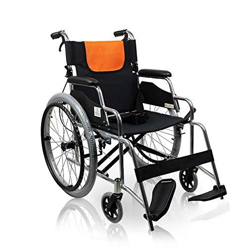 WZB Leichtes Faltendes Aluminiumlegierungs-Manuelles Rollstuhl-Tragbares Gehendes Auto, Fahrender Medizinischer Erwachsener Medizinischer Versorgungsmaterialien Geben Aufblasbaren Luftreifen Frei L