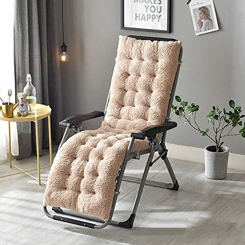 DJ Stoelkussen, rustligbed, pluche verdikt, antislip, zachte zitkussen voor schommelstoel-recliner-patio, tatami-vloermat, wit, 130 x 50 x 12 cm (51 x 20 x 5 inch)