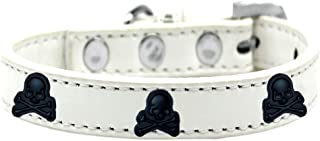 Mirage Pet Products 631-27 WT16 Skull Widget Dog Collar, Size 16, White