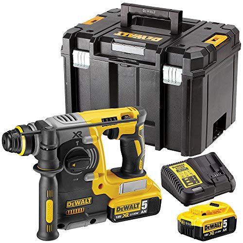 Dewalt DCH273N 18V SDS+ Rotary Hammer Drill with 2 x 5.0Ah Batteries & Charger in Case