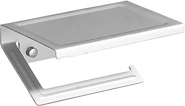 Roestvrijstalen Badkamer Muurbevestiging WC Papier Telefoon Houder Plank Handdoekrol Plankaccessoires, Toiletpapierhouder...
