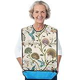 Babero Adulto, impermeable, lavable, protector de ropa para la hora de la comida, delantal de ayuda elegante con recogedor de migas para mujeres que comen