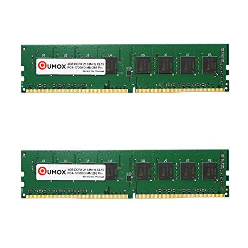 QUMOX 8GB(2X 4GB) DDR4 2133 2133MHz PC4-17000 PC-17000 DIMM Desktop-Speicher