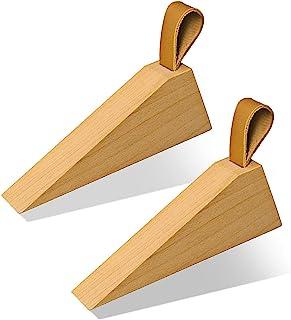 3xTraditional Wooden Beech Wood Door Stop Wedge Door Stopper stop