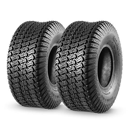 MaxAuto 2 Pcs 15x6.00-6 Front Lawn Mower Tire for Garden Tractor Riding Mover, 4PR