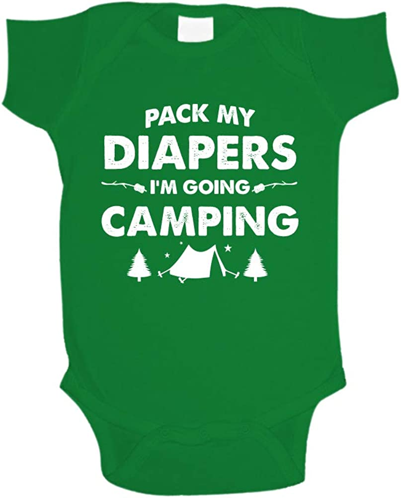 I/'m Going to Camping with Mamaw Custom Onsie Pregnancy Announcement Pack my Diapers Onesie Baby/'s First Camping Trip Bonfire.