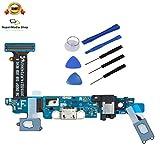 für Samsung Galaxy S6 G920F Ladebuchse Docking Charge Connector Micro USB + Menü Zurück Back Button Taste + Werkzeugset