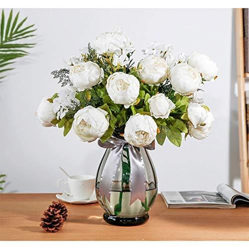 ZHTY 1 Bouquet 13 Köpfe Rose Rosa...