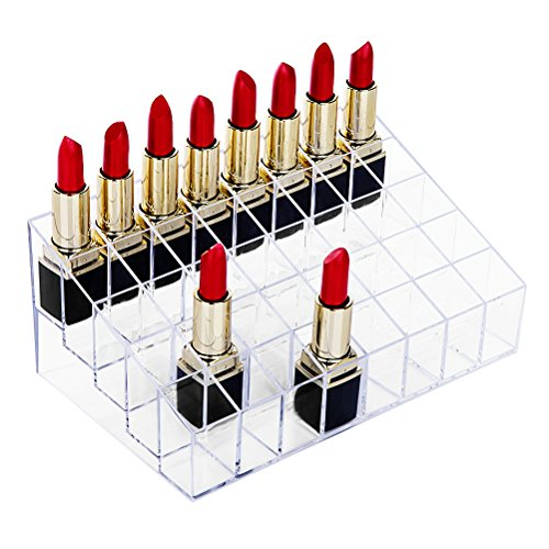 Lipstick Holder, HBlife 40 Spaces Clear Acrylic Lipstick Organizer Display Stand Cosmetic Makeup Organizer for Lipstick, Brushes, Bottles, and more