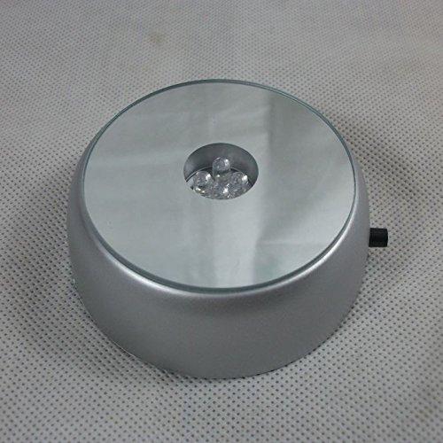 4 LED base lumineuse lumineuse laser base ronde de support pour l'affichage transparent d'objets en verre de cristal de cocktail