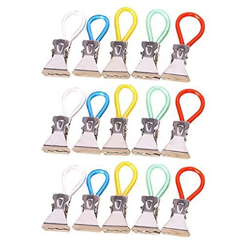 XINGSUI 15 pezzi clip in metallo per riporre lo strofinaccio da cucina, clip per asciugamano colorato, clip per appendere il panno, clip per strofinaccio, clip per telo mare, per cucina e bagno