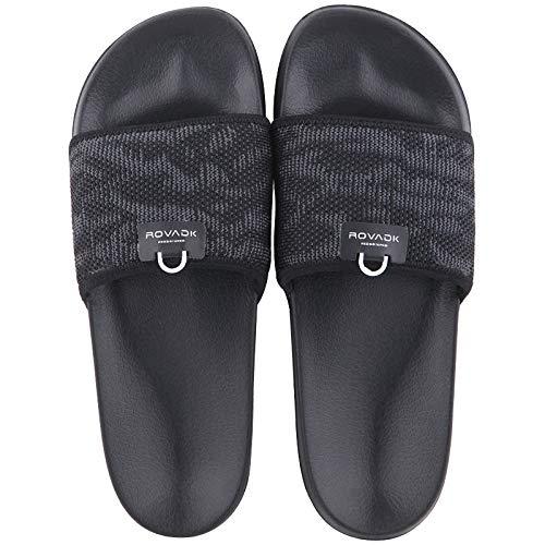 QXbecky Zapatillas de Hombre, Desodorante de Suela Gruesa, Antideslizante de Suela Blanda, Zapatillas de Moda para Interiores y Exteriores