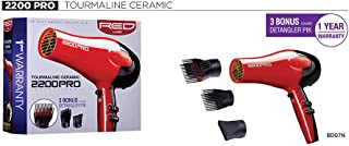 Red by Kiss Tourmaline Ceramic 2200PRO Professional Hair Dryer BD07N