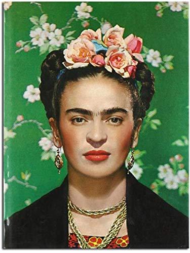 Pintura de diamantes para kits de niños 5D taladro completo pinturas de diamantes de imitación redondos decoración del hogar regalo Frida Kahlo 40x50cm 7