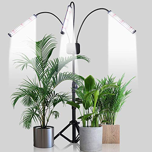 Grow Light with Stand,GHodec 252 LED 150W Floor Plant Light for Indoor Plants,Tripod Stand Adjustable 15-59 in,5 Dimmable Levels & Auto On/Off Timer 4 8 12 Hrs