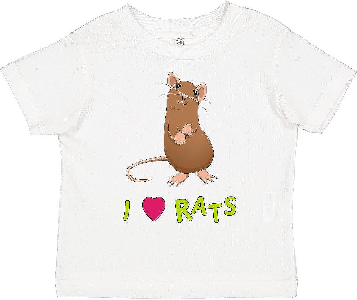 inktastic I Love Rats Toddler T-Shirt