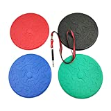 Arestle 4pcs TPR Dog Flying Disc+1pc Dog Training Whistle, Interactive Rubber Puppy Frisbees Catcher Toys, Floating on Water Good for Beach and Pool Outdoors