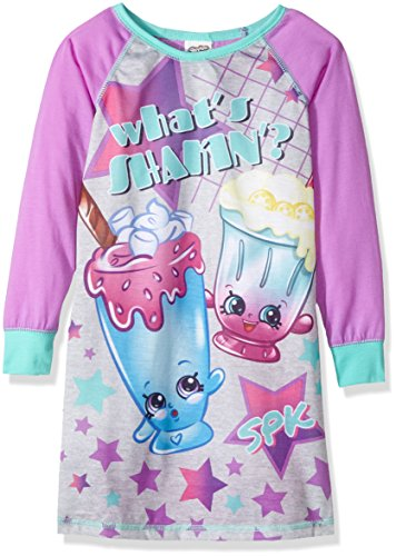 Shopkins Girls' Big Nightgown, Cutie Shakes, 8