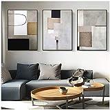 LingYuKeJi Decorazioni Geometriche astratte su Tela Poster Minimalista Poster e Stampa Wall Art Picture Office Home Decoration60x80cm (23.6'x31.5) x3 Senza Cornice