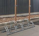 Mottez Ratelier 5 vélos 2 niveauxCôte à côte 160x39x49cm Adulte Unisexe, Gris, 160 x 39 x 49 cm