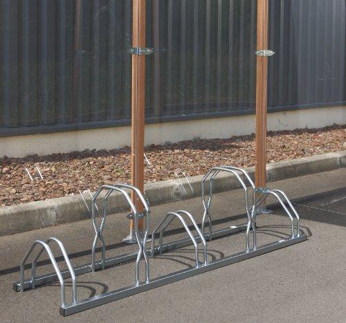 Unbekannt Mottez Fahrradständer, 2Ebenen nebeneinander, für 5Fahrräder, Grau, 160x 39x 49cm
