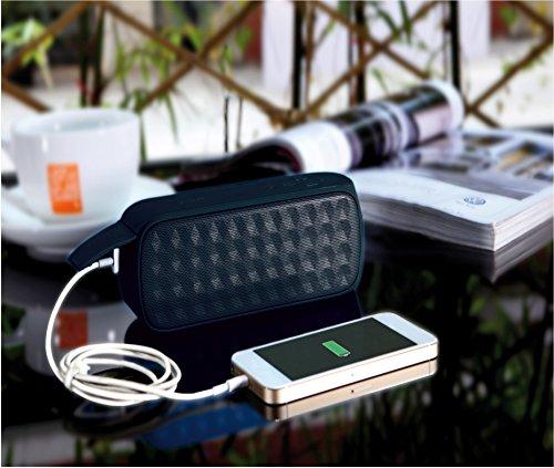 Mediacom draagbare audio Smartsound Dust Bluetooth/NFC + powerbank zwart
