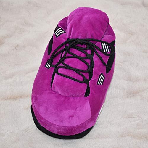 Zapatillas de baloncesto unisex de talla única para los amantes de la casa y el piso de la casa para interiores y interiores, suaves, divertidas.