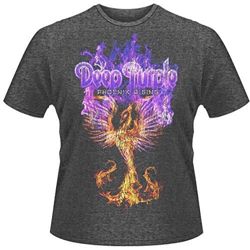 Plastic Head - T-Shirt - Deep Purple Phoenix Rising - Homme - Gris - Medium (Taille Fabricant: Medium)