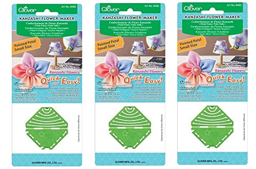 Bulk Buy: Clover Needle Crafts Kanzashi Flower Maker Pointed Petal Small (3-Pack)